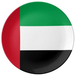 United Arab Emirates Flag Porcelain Plates