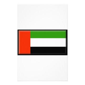 United Arab Emirates Flag Stationery Paper