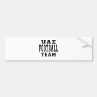 UNITED ARAB EMIRATES Football Team Bumper Sticker