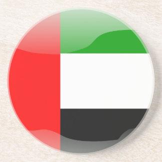 United Arab Emirates glossy flag Coaster