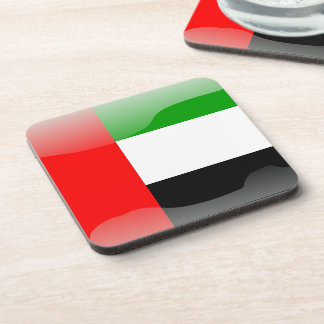 United Arab Emirates glossy flag Drink Coasters