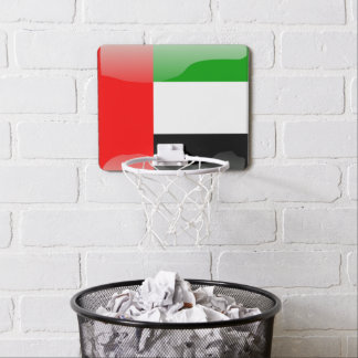 United Arab Emirates glossy flag Mini Basketball Hoop