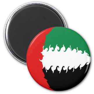 United Arab Emirates Gnarly Flag 6 Cm Round Magnet