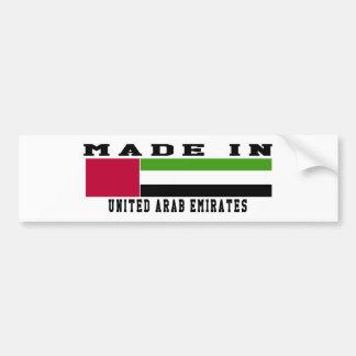 United Arab Emirates Made In Designs Bumper Stickers