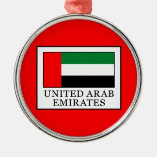 United Arab Emirates Silver-Colored Round Decoration