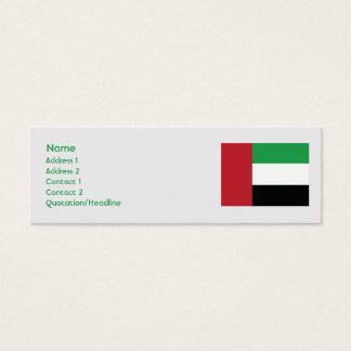 United Arab Emirites - Skinny Mini Business Card