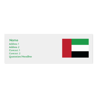 United Arab Emirites - Skinny Pack Of Skinny Business Cards