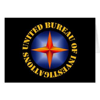 United Bureau of Investigations Greeting Card