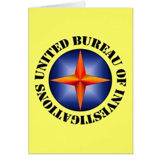 United Bureau of Investigations Greeting Cards