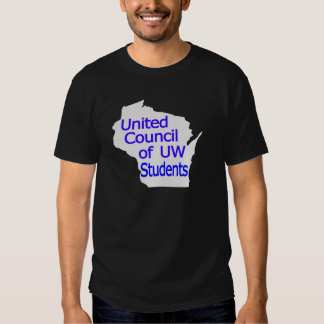 United Council New Logo Blue on Grey T-shirt