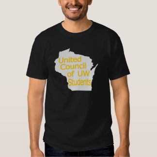 United Council New Logo Gold on Grey Tee Shirts