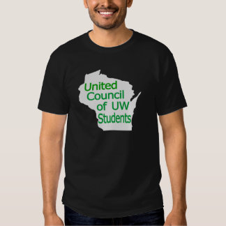 United Council New Logo Green on Grey Tee Shirts