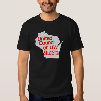 United Council New Logo Red on Grey Shirt