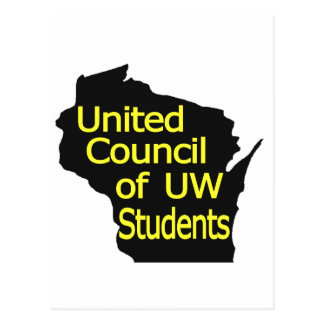United Council New Logo Yellow on Black Postcards
