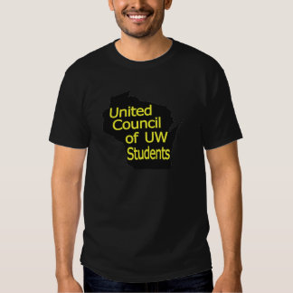 United Council New Logo Yellow on Black Tee Shirt