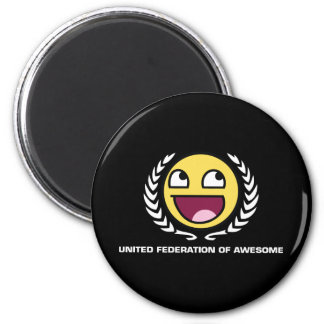 United Federation of Awesome 6 Cm Round Magnet