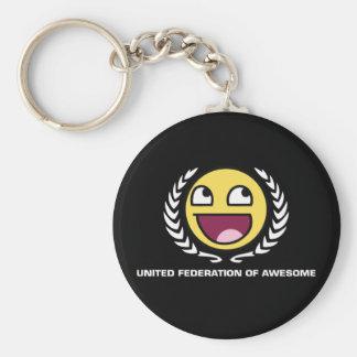 United Federation of Awesome Basic Round Button Key Ring