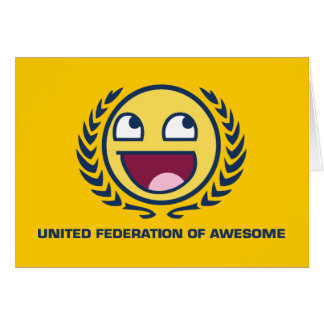 United Federation of Awesome Greeting Card