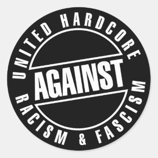 United hardcore.. tarra/sticker round sticker