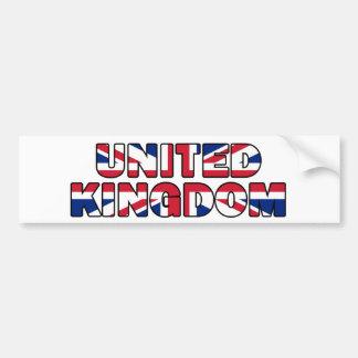 United Kingdom 006 Car Bumper Sticker