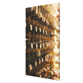 United Kingdom, Bristol, old wine bottles on Canvas Print