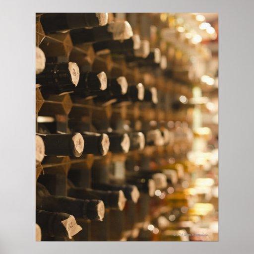 United Kingdom, Bristol, old wine bottles on Print