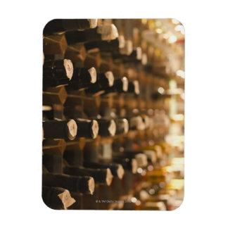 United Kingdom, Bristol, old wine bottles on Rectangular Photo Magnet