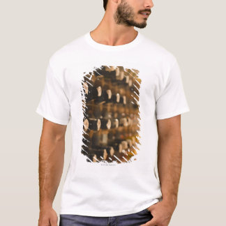 United Kingdom, Bristol, old wine bottles on T-Shirt