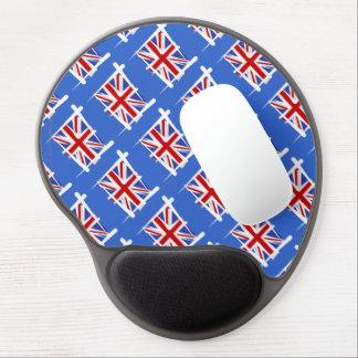 United Kingdom Brush Flag Gel Mouse Pad