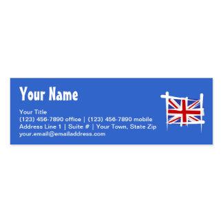 United Kingdom Brush Flag Pack Of Skinny Business Cards