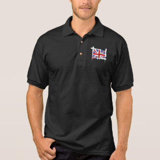 United Kingdom Brush Flag Polo Shirt