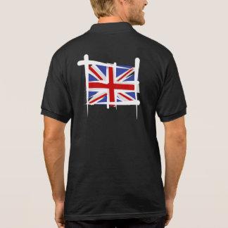 United Kingdom Brush Flag Polo T-shirt