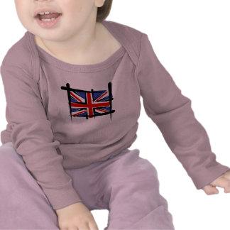 United Kingdom Brush Flag T-shirts