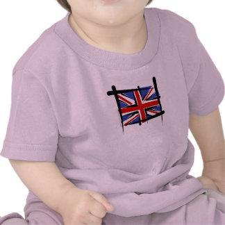 United Kingdom Brush Flag T Shirts