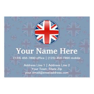 United Kingdom Bubble Flag Business Card Templates
