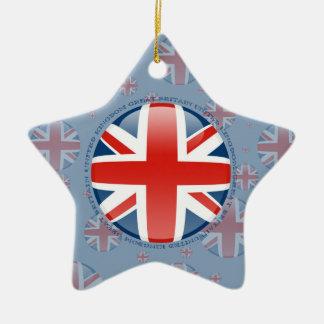 United Kingdom Bubble Flag Ceramic Star Decoration