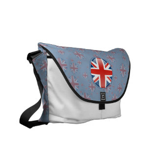 United Kingdom Bubble Flag Messenger Bags