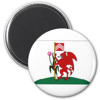 United Kingdom Cardiff Flag Magnet