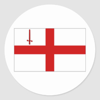 United Kingdom City of London Flag Classic Round Sticker