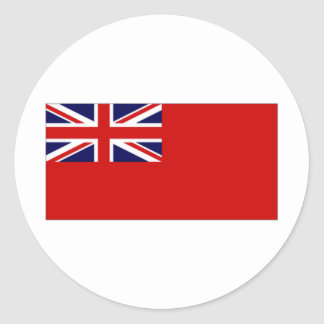 United Kingdom Civil Ensign Red Duster Flag Classic Round Sticker