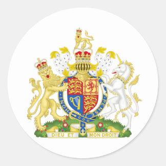 United Kingdom Coat of arms GB Classic Round Sticker