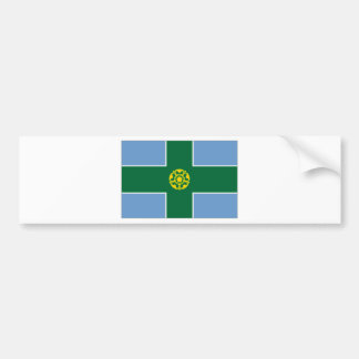 United Kingdom Derbyshire Flag Bumper Sticker