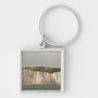 United Kingdom, Dover. The famous white cliffs Silver-Colored Square Key Ring