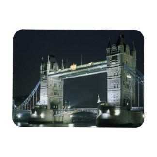 United Kingdom, England, London, Tower Bridge. Rectangular Photo Magnet