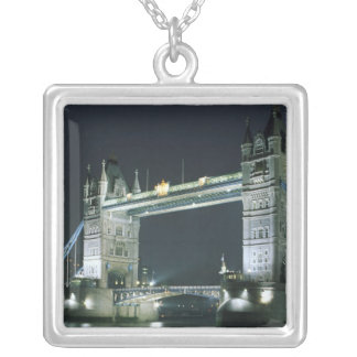 United Kingdom, England, London, Tower Bridge. Silver Plated Necklace