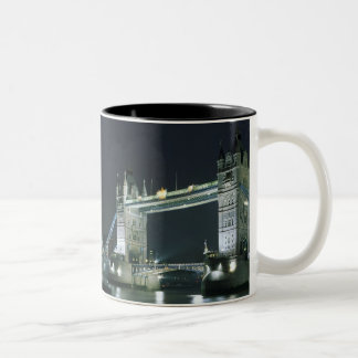 United Kingdom, England, London, Tower Bridge. Two-Tone Coffee Mug