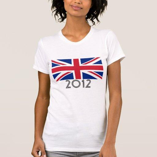 """United Kingdom Flag """"2012"""" Tshirt"""