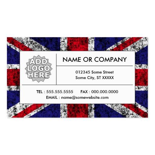 united kingdom flag business card templates