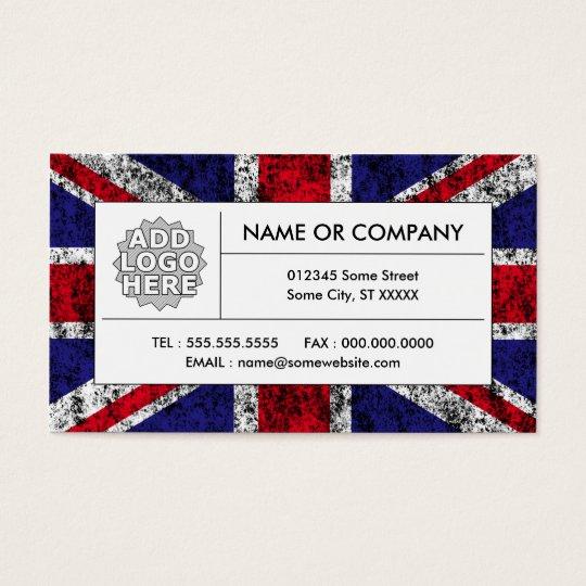 united kingdom flag business card