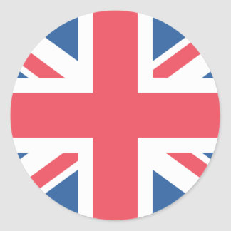 United Kingdom Flag Classic Round Sticker